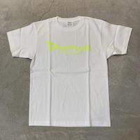 D17012《Basic Tshirts》C/# WHT×NEON YELLOW