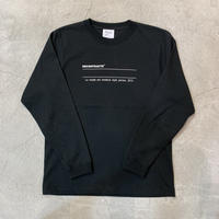 Message Logo L Tshirt 19001  C/# BLACK