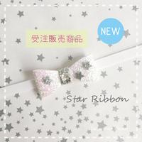 【受注販売商品】Star ★ チョーカーリボン シルバー