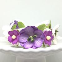 花冠「floral  purple・B」【S】サイズ
