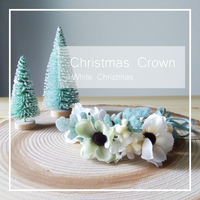 Christmas crown▷White Christmas