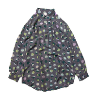 Miss Astor / Euro Vintage Polka Dot Silk Shirts