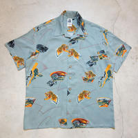 〜80's KENNINGTON S/S Aloha Shirts 和柄 虎 L 極上