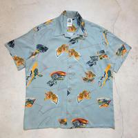 〜80's KENNINGTON S/S Aloha Shirts 和柄 虎 L 極上