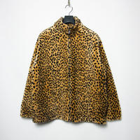 USA製 BLACK MOUNTAIN Full Zip Leopard Fake Fur Jacket