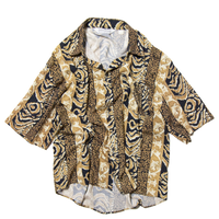 Executive Club / All Over Patterned Rayon Shirts