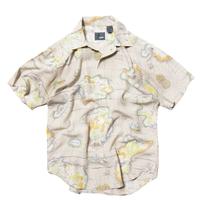 Lizwear / Map Patterned Rayon Shirts