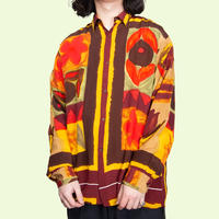 WARDEN / Flower Patterned Artistic Shirts