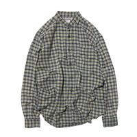 Badge / Collarless Check Shirts