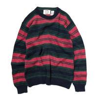 Sears / Cotton Stripe Knit Sweater
