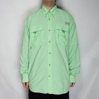 Columbia PFG L/S Shirts ライムグリーン M