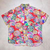 〜90's JAMS WORLD S/S Aloha Shirts アーティスティック ハワイ XL