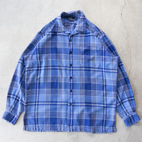 90's Ralph Lauren Open Collared L/S Check Shirts 極上 チカーノ M