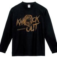 "CHAMPIONSHIP ""SHOUT"" ロングスリーブTシャツ BLACK"