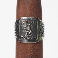 """Cigar label"" Silver ring / La Amita"