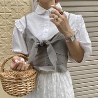 ギンガムチェックフリルビスチェ【201-3003】