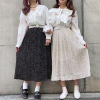 ドットプリーツスカート【191-4021】