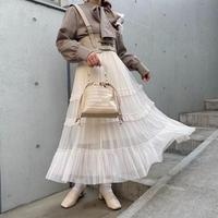 ティアードチュールスカート【202-4009】