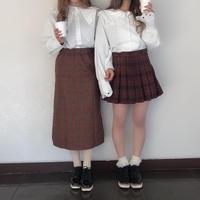 タータンチェックタイトスカート【182-4058】