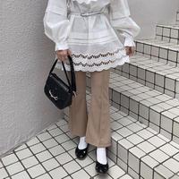 キャメルストレッチフレアパンツ【201-5011】