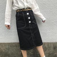 デニム風スカート