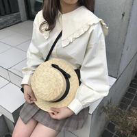 セーラー襟コットンシャツ