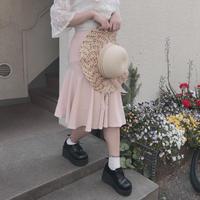 ピンクベージュマーメイドラインスカート