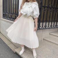 クリーミープリーツスカート【191-4034】