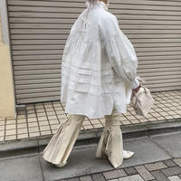 袖ボリュームチュニックワンピース【202-1053】