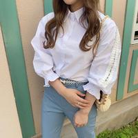袖フリルレースシャツ【201-1065】