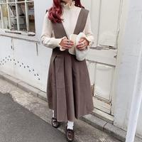 ウールプリーツジャンパースカート【192-6040】