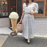 小花柄レイヤードスカート