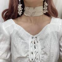 フラワーラインスカーフ【201-9051】
