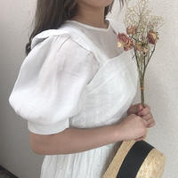 バルーン袖透け感ブラウス【191-1040】