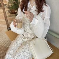 淡色花柄キャミワンピース【211-6023】