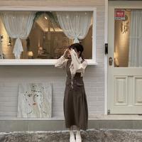 ボタンジャンパースカート【192-6036】