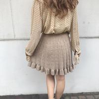 ふんわりニットスカート【182-4014】