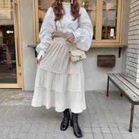 ベロア切り替えデザインスカート【192-4058】