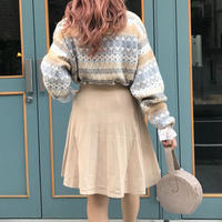 ニットプリーツ風スカート