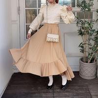 裾プリーツデザインスカート【192-4059】