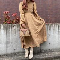 小花柄フリルネックワンピース【202-6023】