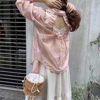 背中開きシアーシャツ【211-1048】