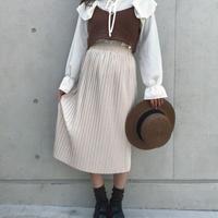 ベージュプリーツ上品スカート