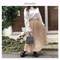 ヴィンテージ花柄プリーツスカート