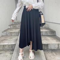 プリーツアシンメトリースカート【211-4002】