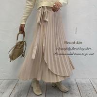 サイドリボンラップスカート【202-4021】