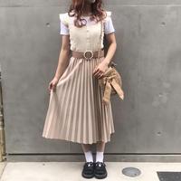 ダスティピンクプリーツスカート【182-4062】
