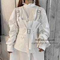 ホワイトアシメデザインセットアップ【201-A001】