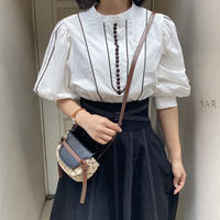 パイピングデザイン2wayシャツ【211-1036】