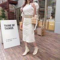 ギンガムチェックタイトスカート【191-4007】
